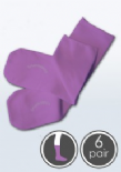 Absolutely Seamless Socks - SmartKnitKIDS ultimate comfort sock - Purple - Value 6 Pack